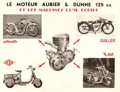 aubier et dunne 125 cc monté sur