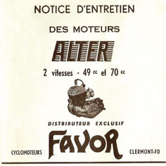 Moteur Alter notice